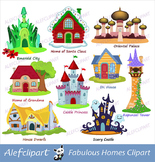 Fairy house  clipart,homes fairytale, fairytale castle,lig