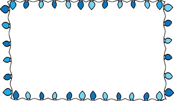 Fairy lights border