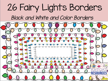 Fairy lights border