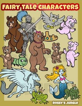 Fairy tale characters clip art set