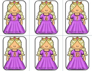 Fairy tale number recognition game