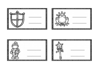 Fairy tale themed desk name plate