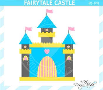 Fairytale castle clipart commercial use