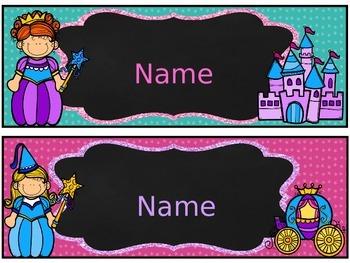 Fairytale Desk Labels