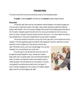 Fairytale Fails - Irregular Past Tense Verbs