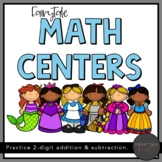 Fairytale Math Centers - Addition and Subtraction with Two-Digit Numbers