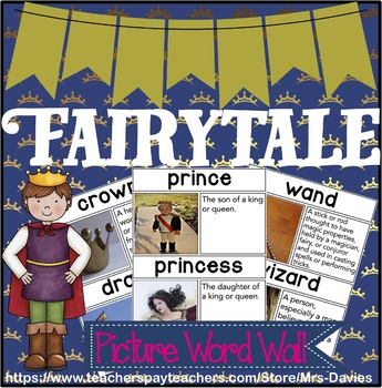 Fairytale Picture Word Wall - Real World Pictures