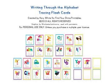 Alphabet Flash Cards, Tracing