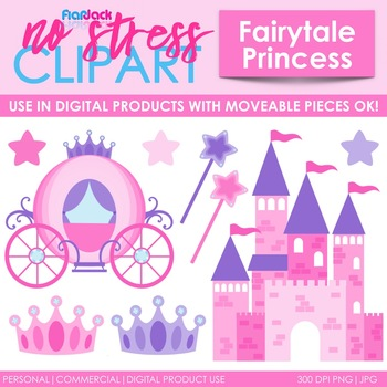 Fairytale Princess Clip Art (Digital Use Ok!)