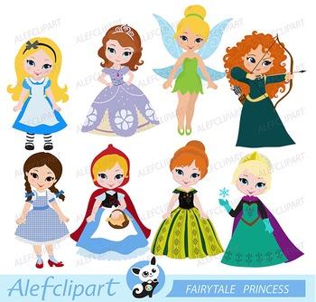 Fairytale Princess Clipart  3