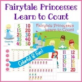 Fairytale Princess Math Counting Printables