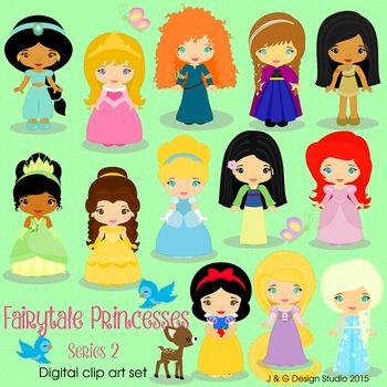 Fairytale Princess Series 2, Children Digital Clipart