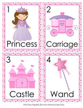 Fairytale Princess and Knight Write the Room Activity