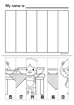 Fairytale Puzzle Pastes - Worksheets Numbers to 20 - Fairy Tales