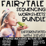 Story Retell & Sequencing Worksheets Fairytale BUNDLE Diff