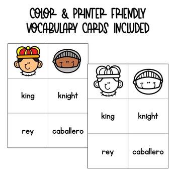 Fairytale Spanish Vocabulary Matching Card Game