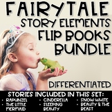 Story Elements Flip Book Fairy Tales BUNDLE Fairytales Differentiated