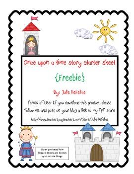 Fairytale Story Starter Freebie!