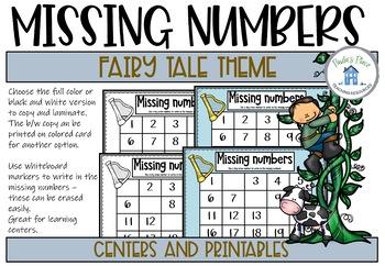 Teen Numbers  - Fairytale Theme