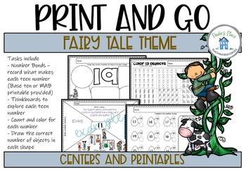 Teen Numbers Fairytale Theme