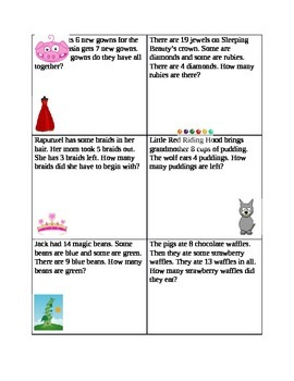 Fairytale Word Problem Cards