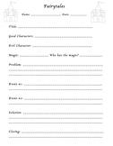 Fairytale Writing Graphic Organizer