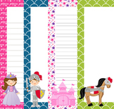 Fairytale Writing Paper - 3 Designs - ( 7 1/2x10 )