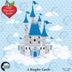 Fairytale castle clipart, Princess clipart,vector graphics, AMB-992