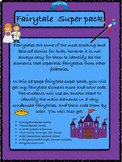 Fairy tale element hunt and color code, anchor chart, sentence stems.. fairytale