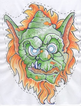 Fairytale masks - Billy Goats Gruff color version