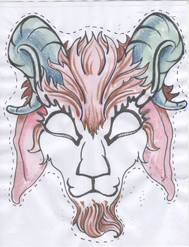 Fairytale masks - Billy Goats Gruff color version