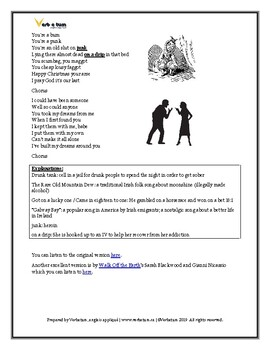 Fairytale of New York: ESL Christmas Worksheet, Discussion Questions