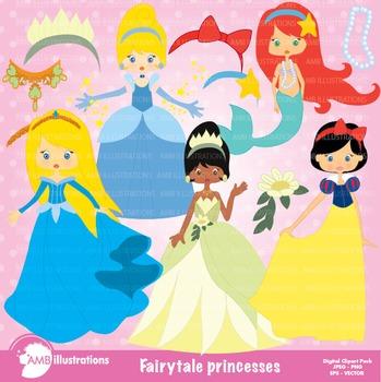 Princess Clipart, Princesses Clip Art, AMB-219