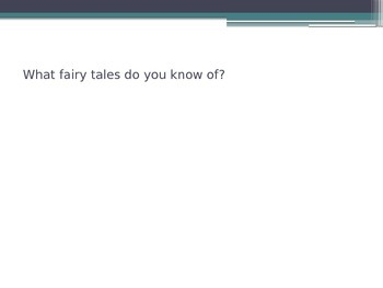 Fairytales - Book Week Writing Introduction