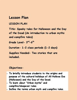 Fairytales, Fables, and Rhymes, Oh My! Halloween and Day of the Dead Lesson Plan