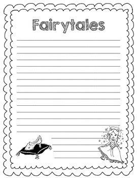 Fairytales Writing Paper (Journeys Unit 6 Lesson 28)