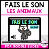 Fais le Son-Les animaux-Mute/Unmute Game/French Digital Brain Break