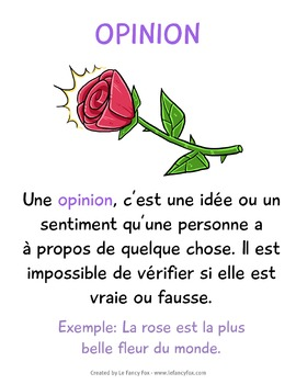 Fait et Opinion - Fact and Opinion - En Français