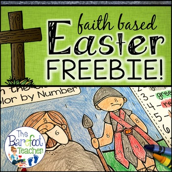 FREE Faith Based Religious Easter Color-By-Number