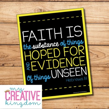 Faith Hebrews 11:1 Poster Freebie