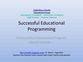 Faith-Hope-Charity Educational!