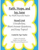 Faith, Hope, and Ivy June by Phyllis Reynolds Naylor - Novel Unit