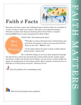 Faith Matters Worksheets