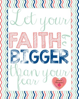 Faith Poster: Bigger Than Fear