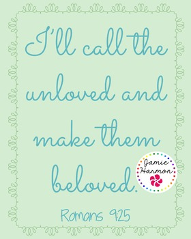 Faith Poster: Romans 9:25