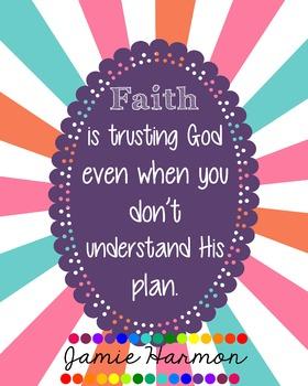 Faith Poster: Trusting God