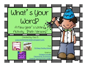{Faith Version} New Year's Writing Activity: What's Your Word?