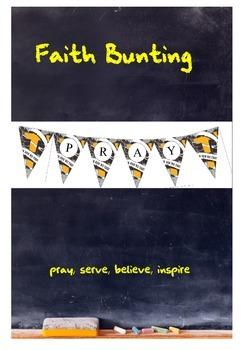 Faith bunting - classroom decor
