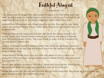 Faithful Abigail Character Sheet
