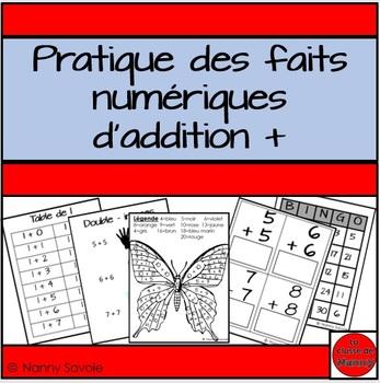 Faits numériques d'addition - en français - french